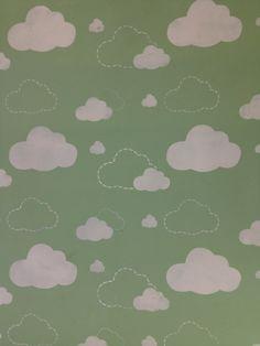 Weinig pluizige wolken Allover Stencil door GypsyMintStencils