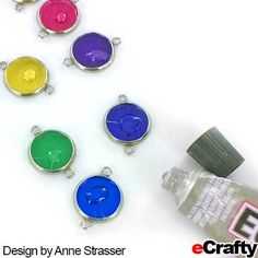 Pretty: it matches your nails! Can do earrings, too. Diy Crafts For Teen Girls, Diy Crafts For Adults, Easy Diy Crafts, Diy Crafts Videos, Diy Craft Projects, Nail Polish Jewelry, Diy Nail Polish, Diy Nails, Teen Girl Gifts