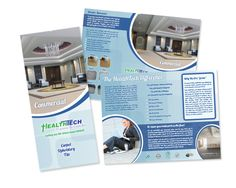 ArachnidWorks, Inc. | Health Tech Cleaning Systems trifold brochure #ArachnidWorks #PrintAdvertising #GraphicDesign