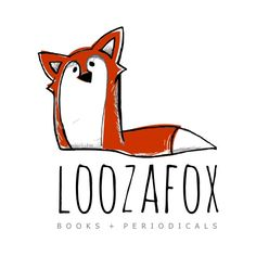 """Premade Logo  Red Fox Logo Sneaky Sly Fox by STONESOUPDESIGN, $45.00"" ~  The way the red-orange colour block is offset from the outline gives it a loose, playful feel. The tilt of the fox's head is also very playful. The gray hatching marks make it appear sketchy and active. I like the shape of the tail and the fact that the whole fox makes an L."