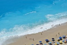 Impressive view of Egremni beach Exotic Beaches, Greek Islands, More Photos, Trip Planning, Greece, Waves, How To Plan, Outdoor, Beautiful