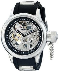 Now available Invicta Men's 1088 Russian Diver Stainless Steel and Black Polyurethane Skeleton Watch