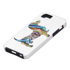 Retro Psychedelic Dachshund iPhone 5 Covers