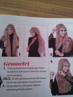 hijab tutorial Turban Tutorial, Hijab Style Tutorial, Hair Cover, Head Pieces, Maxi Skirts, Hijabs, Hijab Fashion, Diaries, Shawl
