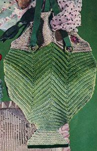 Fish Beach Bag crochet pattern from Quick to Make Gifts, originally published by Coats & Clark's O.N.T., Book No. 318, from 1955.