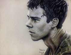 Colored pencil drawing of Dylan O'Brien as Thomas from The Maze Runner (2015) #dylanobrien #mazerunner #deathcure