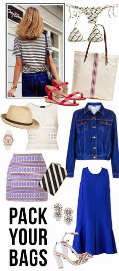 Bloggers We Love: The Steele Maiden: What to pack Fourth of July weekend ( we're a fan of her red sandal pick)