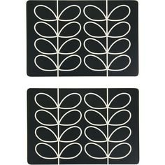 Orla Kiely Linear Stem Tablemats - Set of 2 - Slate (86 CAD) ❤ liked on Polyvore featuring home, kitchen & dining, table linens, grey, heat resistant placemats, gray placemats, colored placemats, grey placemats and orla kiely