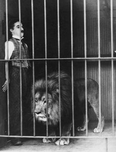 ImageFind images and videos about black and white, lion and charles chaplin on We Heart It - the app to get lost in what you love. Vevey, Charlie Chaplin, Charles Spencer Chaplin, Male Magazine, Silent Film, Old Movies, Nostalgia, Old Hollywood, Comedians