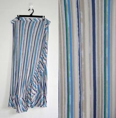 Free Postage (Size 20) Katies Skirt - Pool Party - Long Maxi Stripes Frills 2XL