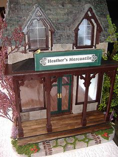 Tracy Topps Greenleaf Brimbles Mercantile dollhouse kit | por minis on the edge