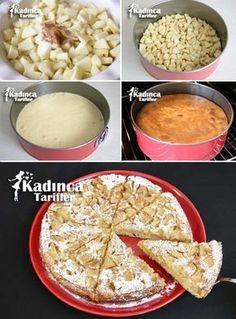 Elmalı Şarlotka Tarifi Turkish Recipes, Indian Food Recipes, Tart Recipes, Cooking Recipes, Honey Dessert, Quiche, Gateaux Cake, Recipe Mix, Pudding Cake