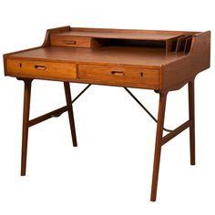 1stdibs   Danish Modern Desk In Teak By Arne Iversen Wahl