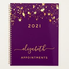 Purple gold stars elegant girly appointments 2021 planner To Do Planner, Teacher Planner, Custom Planner, Purple Gold, Dark Purple, Purple Hands, Best Planners, Planning Your Day, Gold Stars