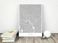 Astana City Map  Printable Download jpg File  Wall by MCartography
