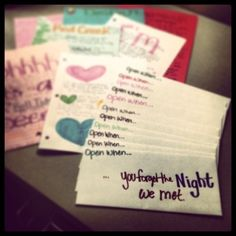 """""""Open When"""" letters I made for my darlin. by Superduper"""