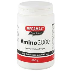 Amino acids AMINO 2000 Megamax tablets 300 pc UK Increase Muscle Mass, Acetic Acid, Bodybuilding Supplements, Good Manufacturing Practice, Neurotransmitters, Protein Shakes, International Recipes, Amino Acids, Build Muscle