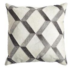 Cowhide pattern pillow