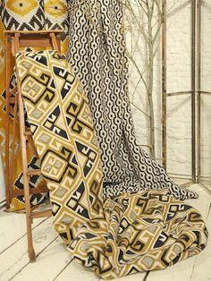 Colecao de tecidos de linho e algodao.tramados James Malone exclusivo Safira