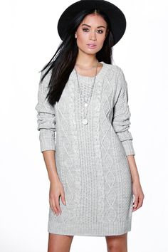 Tabitha Cable Knit Jumper Dress