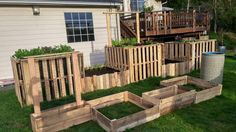 DIY Pallet Garden Raised flower Bed Ideas | 99 Pallets