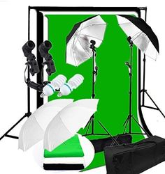 CanadianStudio Photo Studio Continuous 2-Head Umbrella Lighting Light Black/White/Green High Key Muslin Backdrop Stand Kit This is rated as one of the best selling products in Photo category in Canada. Click below to see its Availability and Price in YOUR country.
