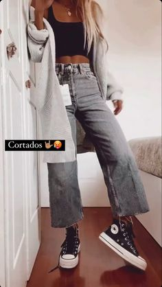 Cute Lazy Outfits, Casual Summer Outfits, Simple Outfits, Pretty Outfits, Spring Outfits, Teen Fashion Outfits, Mode Outfits, Outfits For Teens, University Outfit