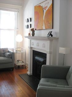 perfect fireplace, perfect sofa, perfect bar cart side table, ahhh! PERFECT!