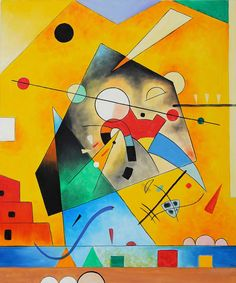 Harmonie Tranquille Quiet Harmony - Wassily Kandinsky Painting On Canvas - Click Image to Close Kandinsky Art, Wassily Kandinsky Paintings, Art Conceptual, Art And Architecture, Love Art, Bunt, Art History, Abstract Art, Illustrations