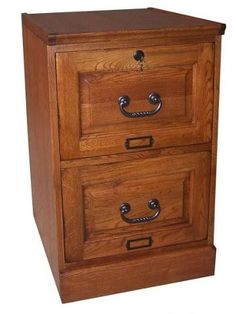 Country Marketplace Oak Two Drawer File Cabinet Antique Harvest