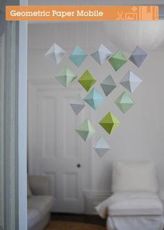 Make a Beautiful Paper Polyhedron Mobile (via craft.tutsplus.com)