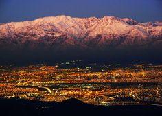 Santiago de Chile, Cordillera de los Andes.      sas