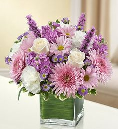 1800Flowers - Healing Tears - Lavender and White - Medium - http://yourflowers.us/1800flowers-healing-tears-lavender-and-white-medium/