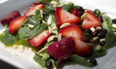 Spinach, Strawberry, and Black Bean Salad