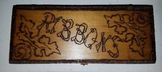 Antique Victorian Pyrography Art Glove Riboon Box  Hinged Lid   Antiques, Decorative Arts, Woodenware   eBay!