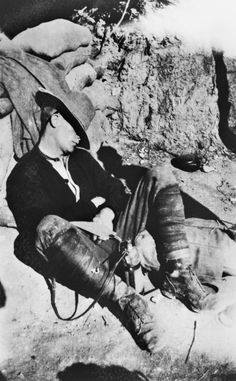 Coupled with the lack ofshelter or water and a very poor diet, Australian and New Zealand soldiers on Gallipoli found the lack of sleep almost impossible to get used to. The cramped conditions, noise, heat and flies made a good night's rest a rare luxury. Men often fell asleep where they were sitting – or standing, as New Zealand veteran Jerry Duffel recalls in this radio interview recorded in the 1960s.