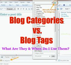The difference between blog categories and blog tags and how to use them
