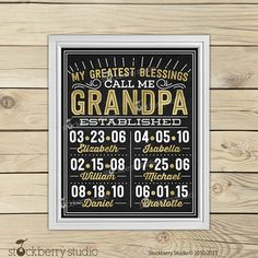 Grandpa Fatheru0027s Day - Grandchildren Wall Art - Papa Gifts - Personalized Grandpa Gifts - Grandfather & 48 Best Grandfather gifts images in 2019 | Gifts For Husband ...