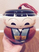 1950s MID-CENTURY Japanese KOKESHI Lacquered Wood Doll Lidded Stacking Bento Box