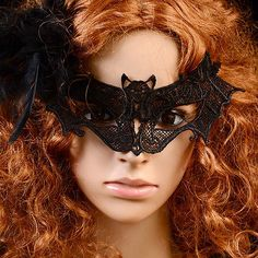 Sexy-Women-Lace-Bat-Mask-Masquerade-Ball-Halloween-Party-Fancy-Dress-Costume-New