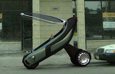 Motocicleta ecológica que puede llegar a ser muy veloz.   Quiero más diseño