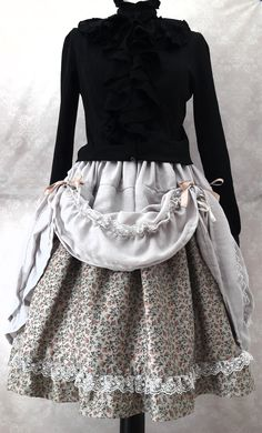 Violet//Noir Velours Fit And Flare Long Jupe Steam Punk Gothique
