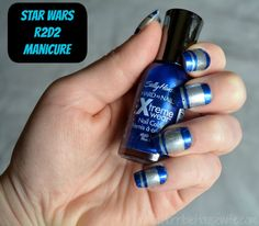 Star Wars nail art- R2D2 nails created with Sally Hansen products #IHeartMyNailArt