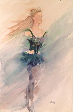 Dancer  II Watercolor by Rachaelizaart on Etsy, £80.00
