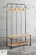 My-Furniture industrial coat rack reclaimed wood and steel - BOSSE