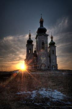 The Cathedral of the Transfiguration at sunset, located in Cathedraltown in Markham. The Transfiguration, Take Me To Church, European Countries, Place Of Worship, Travel Bugs, Beautiful Buildings, Eastern Europe, Czech Republic, Ontario