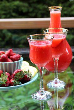 Coctel de fresa y limon