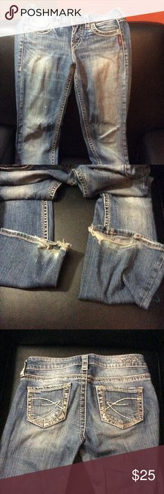 Silver jeans Eden flare jeans. Good used condition. Some wear on back of jeans legs Silver Jeans Jeans Flare & Wide Leg