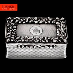 ANTIQUE 19thC WILLIAM IV SOLID SILVER HUGE SNUFF BOX, RAWLINGS & SUMMERS c.1836