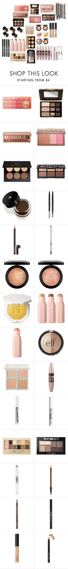 """""""makeup b"""" by cuteoutfits4you on Polyvore featuring Too Faced Cosmetics, Urban Decay, Maybelline, Anastasia Beverly Hills, Kat Von D, Lancôme, Lash Star Beauty, Inglot, Laura Mercier and Puma"""